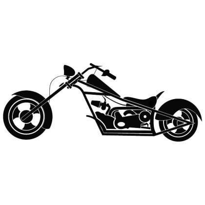 Motorcycle Long Forks Free Vector