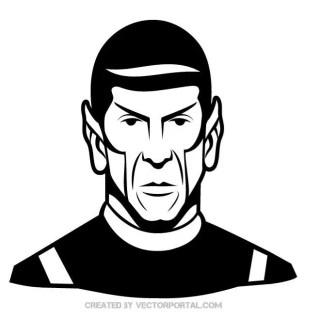 Mr.Spock Portrait Free Vector