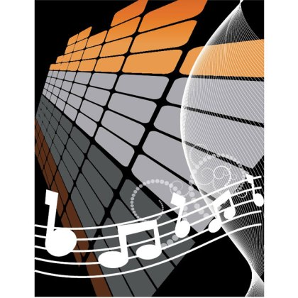 Music Abstract Background Free Vector