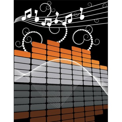 Music Background Free Vector
