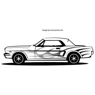 Mustang Car Free Vector