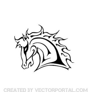 Mustang Horse Head Free Vector