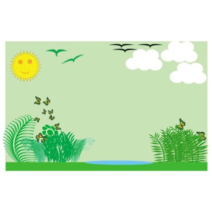 Nature Landscape Background Free Vector