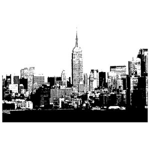 New York City Skyline Free Vector
