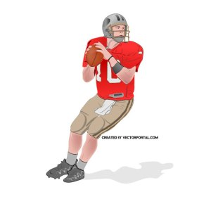 Nfl Football Player Free Vector