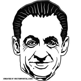 Nicholas Sarkozy Portrait Free Vector