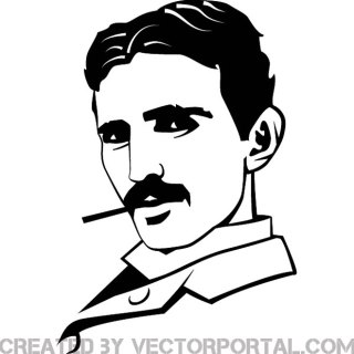 Nikola Tesla Portrait Free Vector