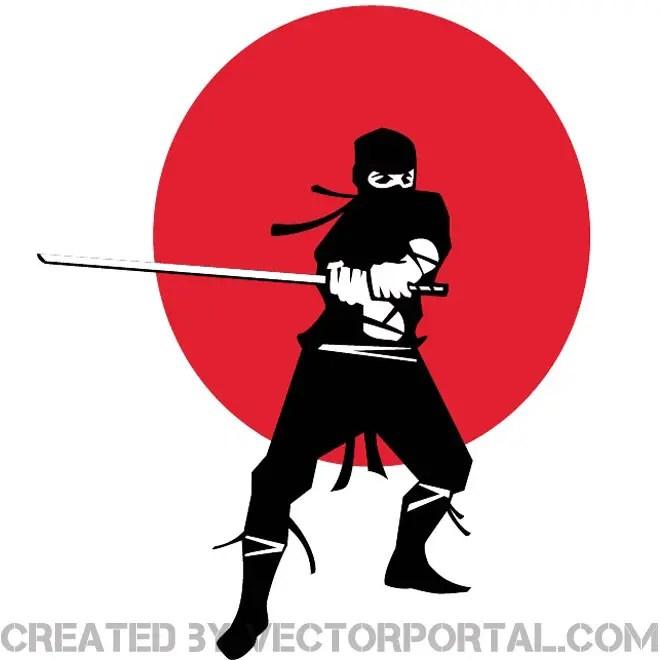 Ninja Warrior Image Free Vector
