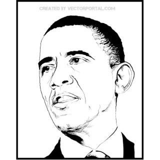 Obama Sketch Free Vector