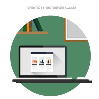 Office Flat Icon Free Vector