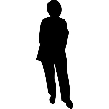 Old Lady Silhouette Free Vector