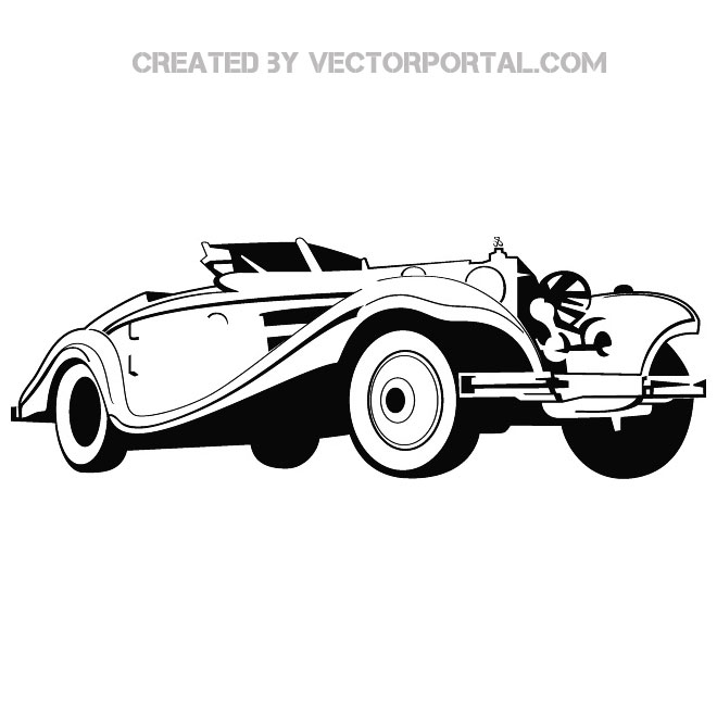 Old-Timer Car Free Vector