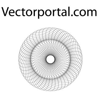 Optical Guilloche Pattern Free Vector