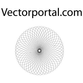 Optical Guilloche Shape Free Vector
