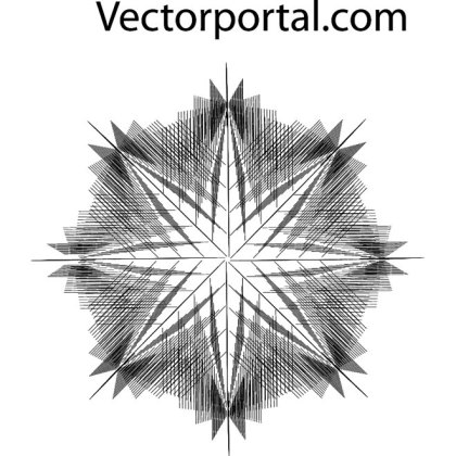 Optical Star Guilloche Free Vector