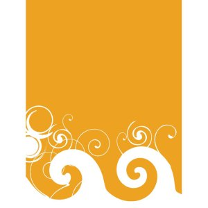 Orange Background with Swirls Free Vector