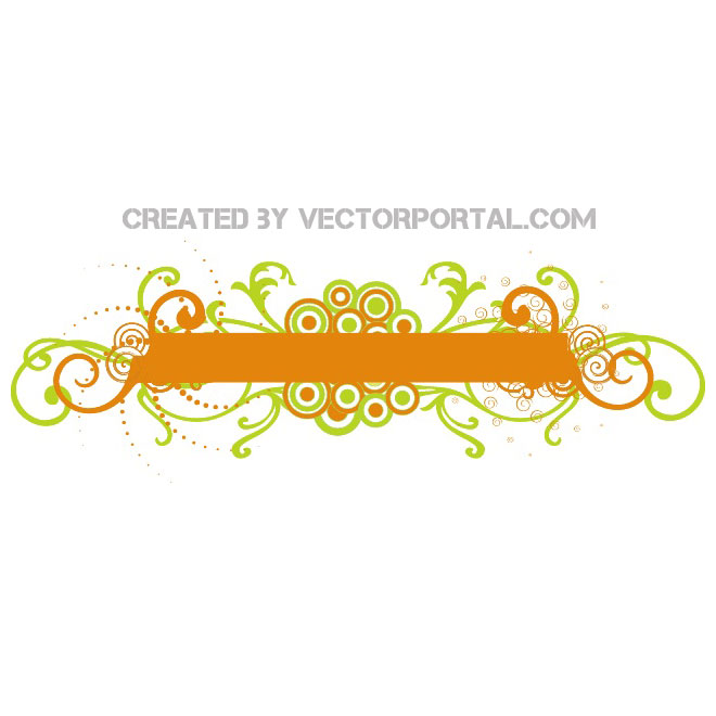 Orange Banner Stock Design Free Vector