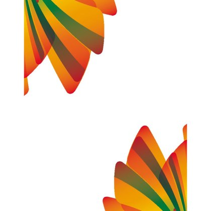 Orange Green Abstract Design Free Vector
