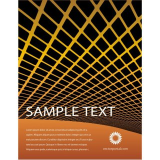 Orange Grid Abstract Free Vector