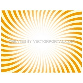 Orange Retro Sunbeams Free Vector