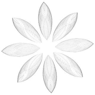 Ornate Flower Shape Free Vector
