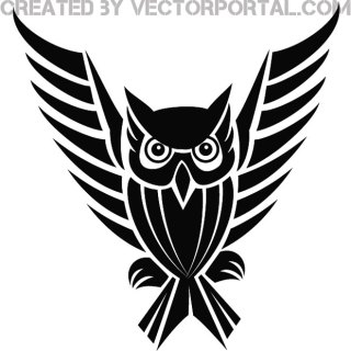 Owl Spread Wings Image Free Vector