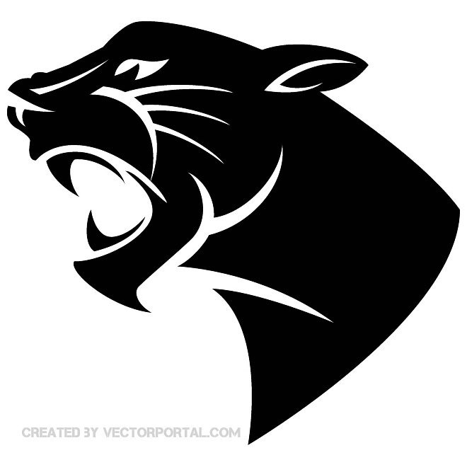 Panther Head Image Free Vector