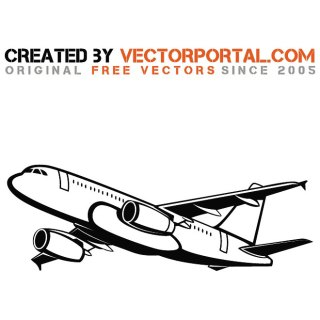 Passenger Airplane Free Vector