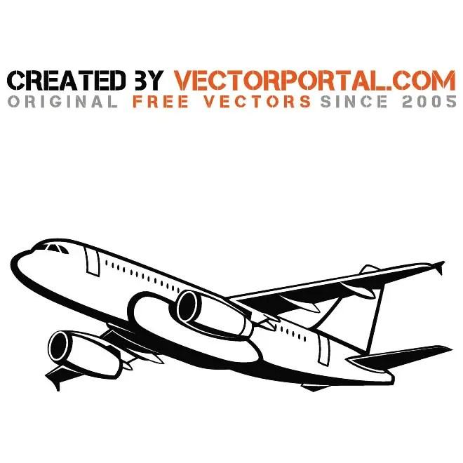 Passenger Airplane Free Vector