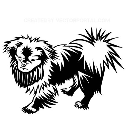 Pekingese Dog Free Vector