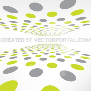 Perspective Dots Abstract Graphics Free Vector