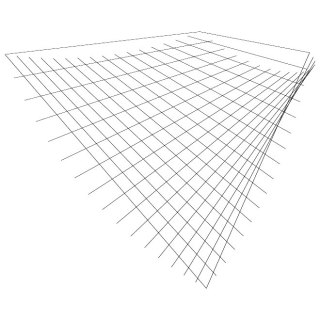 Perspective Grid Shape Free Vector