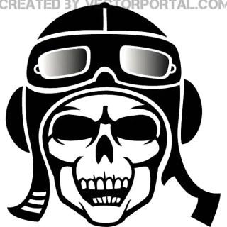 Pilot Skull Image Free Vector