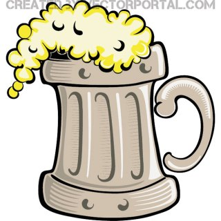 Pint of Beer Image Free Vector