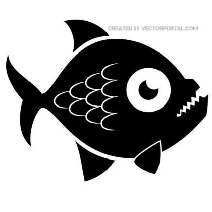 Piranha Fish Image Free Vector