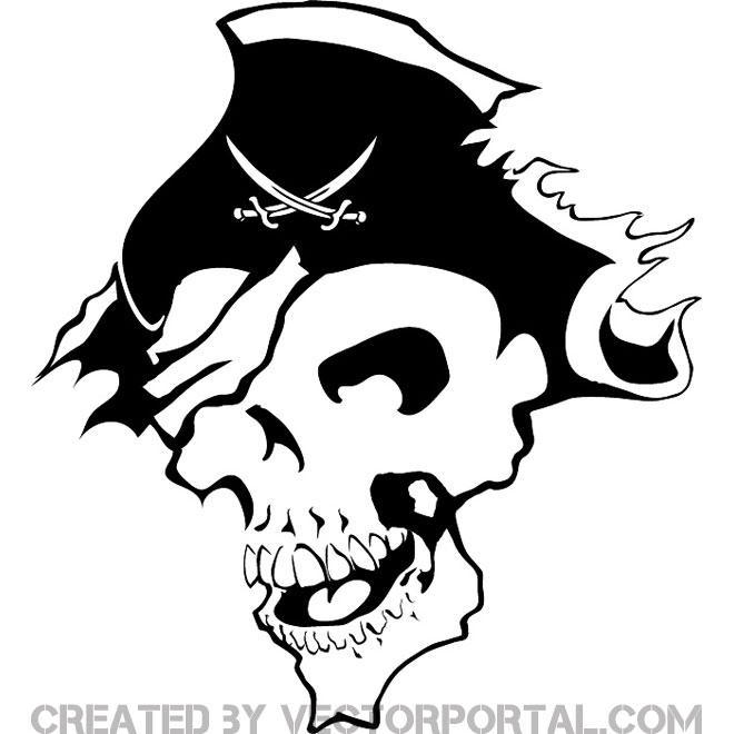 pirate clipart free vector 123freevectors