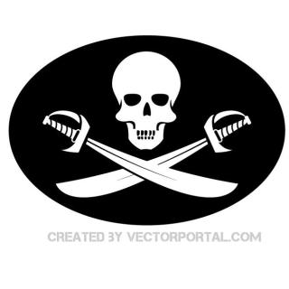 Pirate Flag Graphics Free Vector