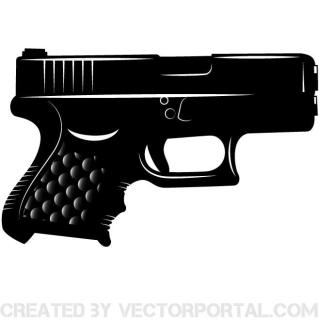 Pistol Clip Art Image Free Vector