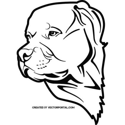 Pit Bull Dog Free Vector