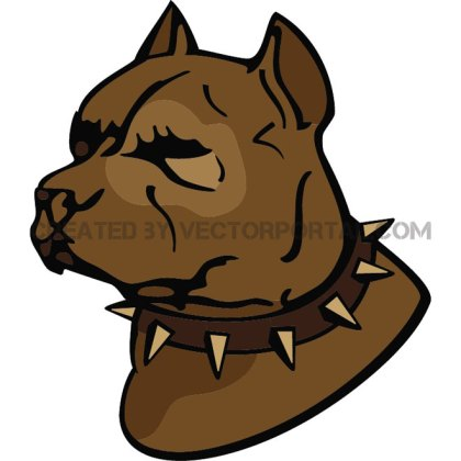 Pit Bull Dog Illustration Free Vector