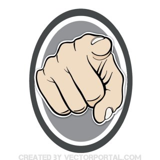 Pointing The Finger Sign Free Vector