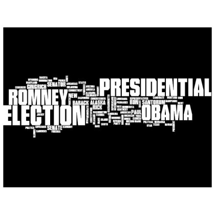 Presidential Elections 2012 Cloud Free Vector