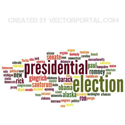 Presidential Elections Word Cloud Free Vector