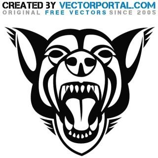 Rabid Dog Graphics Free Vector