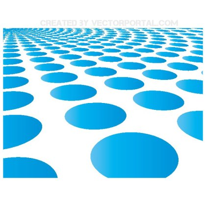 Radial Blue Dots Background Free Vector