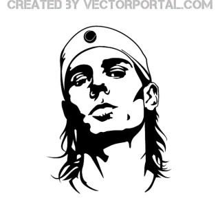 Rafael Nadal Portrait Free Vector