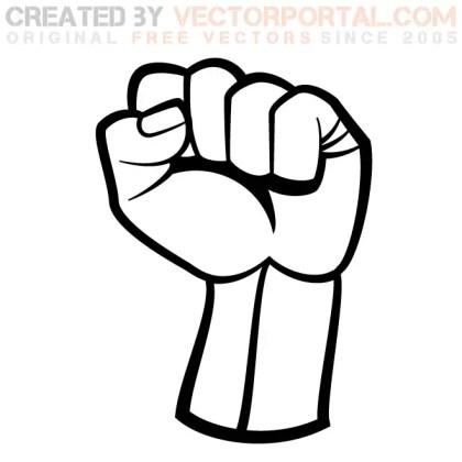 Raised Fist Graphics Free Vector