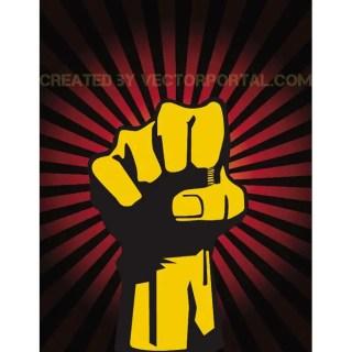 Raised Fist Illustration Free Vector