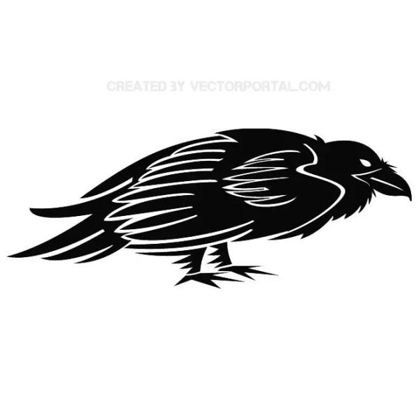 Raven Free Vector