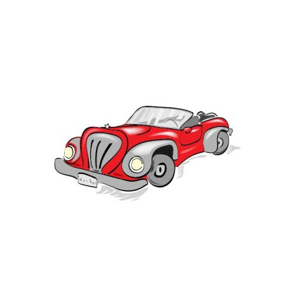 Red Car Cartoon Free Vector